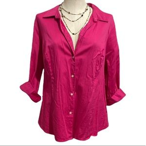 💗 Ladies Cute, Soft & Comfy Pink Button Up